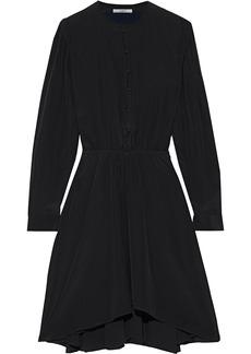 Isabel Marant Étoile Woman Yandra Gathered Silk Crepe De Chine Dress Black