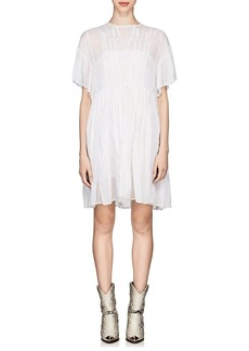 Isabel Marant Étoile Women's Annaelle Embroidered Cotton Smock Dress
