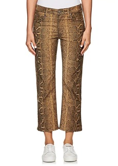 Isabel Marant Étoile Women's Apolo Snakeskin-Print Corduroy Jeans