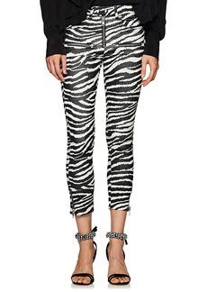 Isabel Marant Étoile Women's Apolo Zebra-Print Flared Crop Pants