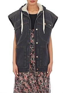 Isabel Marant Étoile Women's Celef Faux-Shearling-Lined Hooded Vest