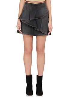 Isabel Marant Étoile Women's Coati Ruffle Denim Skirt