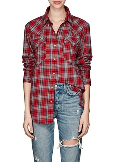 Isabel Marant Étoile Women's Divana Plaid Cotton Flannel Blouse