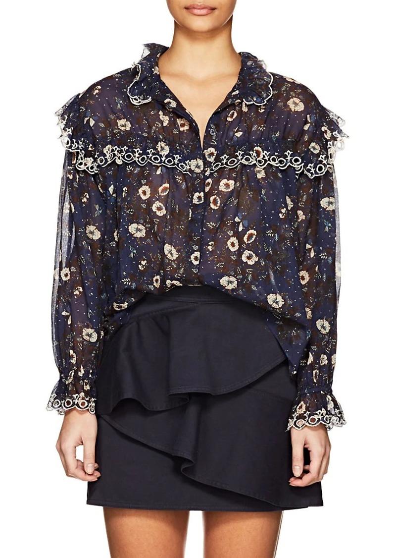 Isabel Marant Étoile Women's Elmira Floral Cotton Voile Blouse
