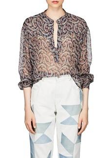 Isabel Marant Étoile Women's Emana Floral Silk Chiffon Blouse