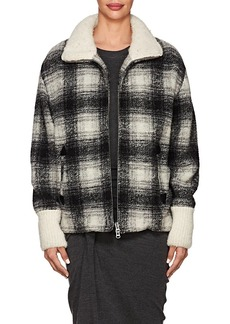 Isabel Marant Étoile Women's Gimo Checked Wool-Blend Bomber Jacket