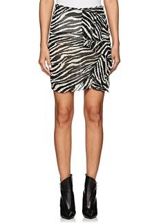Isabel Marant Étoile Women's Jerine Zebra-Print Chiffon Miniskirt
