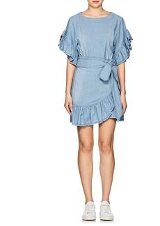 Isabel Marant Étoile Women's Lelicia Chambray Apron-Front Minidress