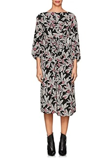 Isabel Marant Étoile Women's Lisa Floral Crepe Midi-Dress
