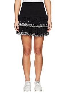 Isabel Marant Étoile Women's Naomi Smocked Cotton Miniskirt