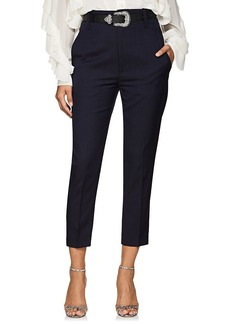 Isabel Marant Étoile Women's Noah Virgin Wool High-Rise Pants