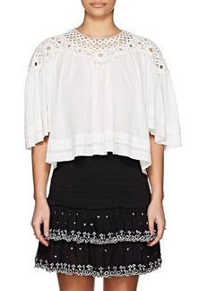 Isabel Marant Étoile Women's Release Plissé Cotton Top