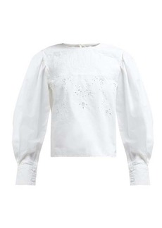 Isabel Marant Étoile Wona broderie-anglaise cotton blouse