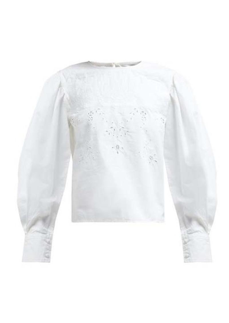 Isabel Marant Étoile Wona broderie-anglaise cotton blouse
