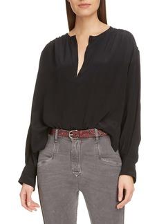 Isabel Marant Étoile Yacah Silk High/Low Shirt