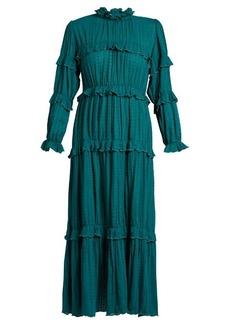 Isabel Marant Étoile Yukio ruffle-trimmed tiered cotton dress