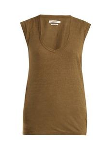 Isabel Marant Étoile Zanky cap-sleeved linen T-shirt