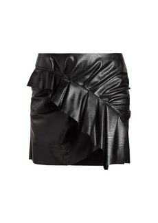 Isabel Marant Étoile Zeist ruffled faux-leather mini skirt