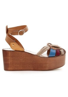Isabel Marant Étoile Zelie rope and leather wedges