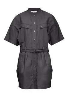 Isabel Marant Étoile Zolina belted cotton-canvas shirt dress