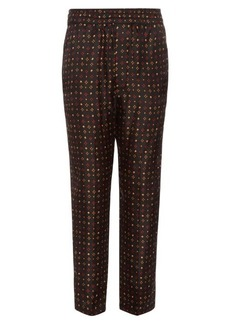 Isabel Marant Toya diamond-print trousers