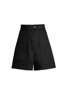 Isabel Marant Trey high-waisted cotton shorts
