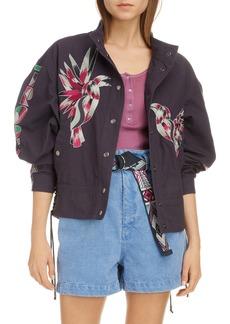 Isabel Marant Tropicalia Embroidered Moto Jacket