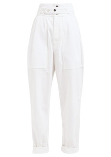 Isabel Marant Turner high-rise cotton trousers