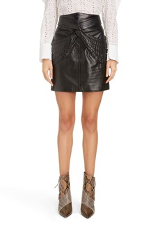 Isabel Marant Twist Detail Leather Miniskirt