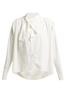 Isabel Marant Ugi tie-neck crepe blouse