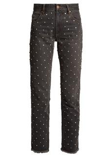 Isabel Marant Ulano crystal-embellished slim-leg jeans