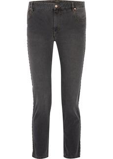 Ulyff Swarovski crystal-embellished high-rise slim-leg jeans