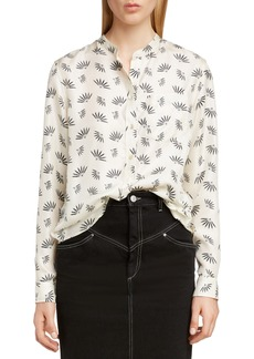Isabel Marant Usak Fan Print Silk Blouse