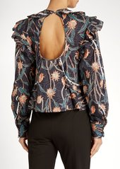 aef6031a690 Isabel Marant Isabel Marant Uster floral-print ruffled cotton top ...