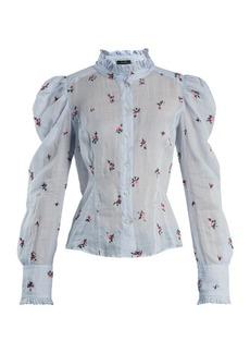 Isabel Marant Utah floral-embroidered voile blouse