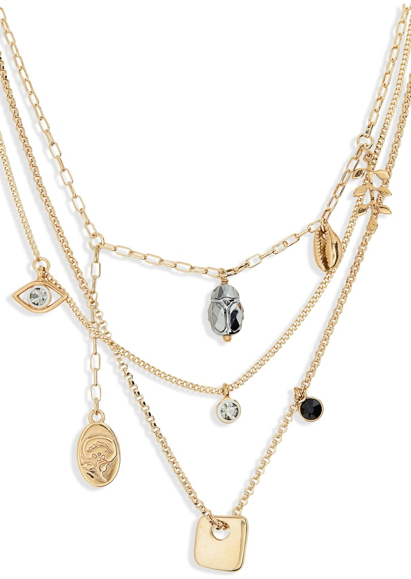 Isabel Marant Vedette Layered Charm Necklace