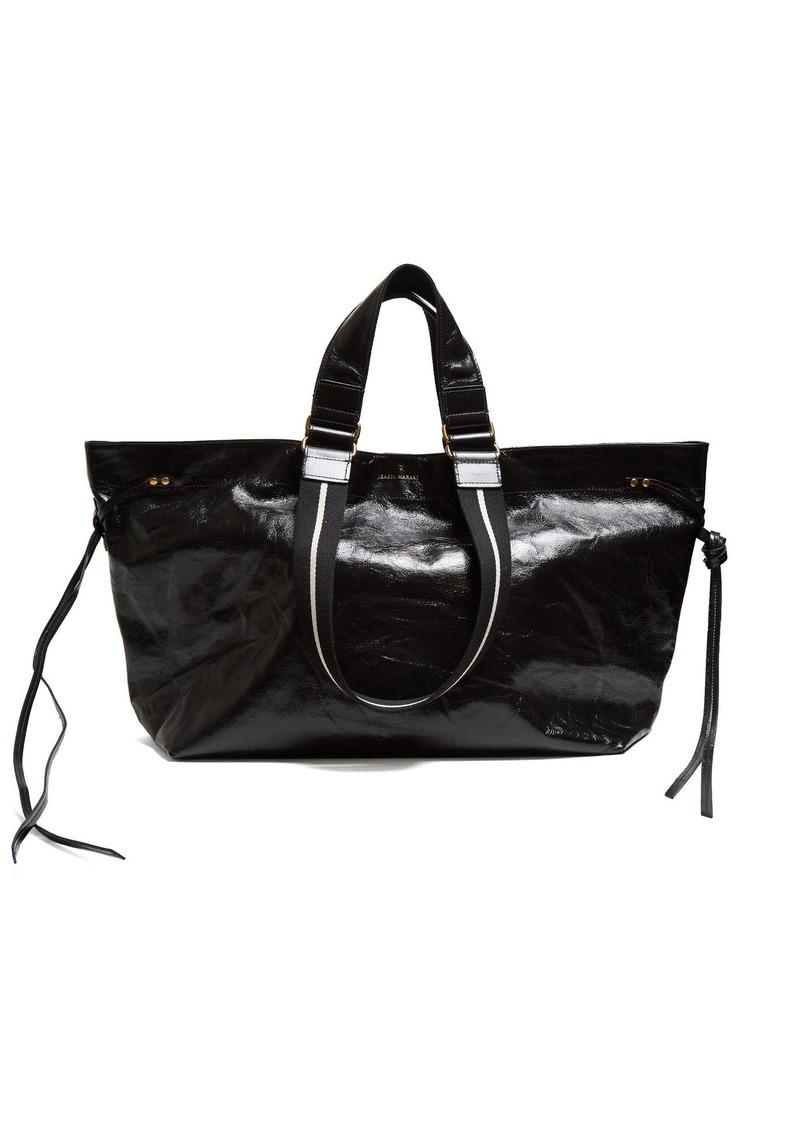 f5e8d88961 Isabel Marant Isabel Marant Wardy patent-leather tote bag | Handbags