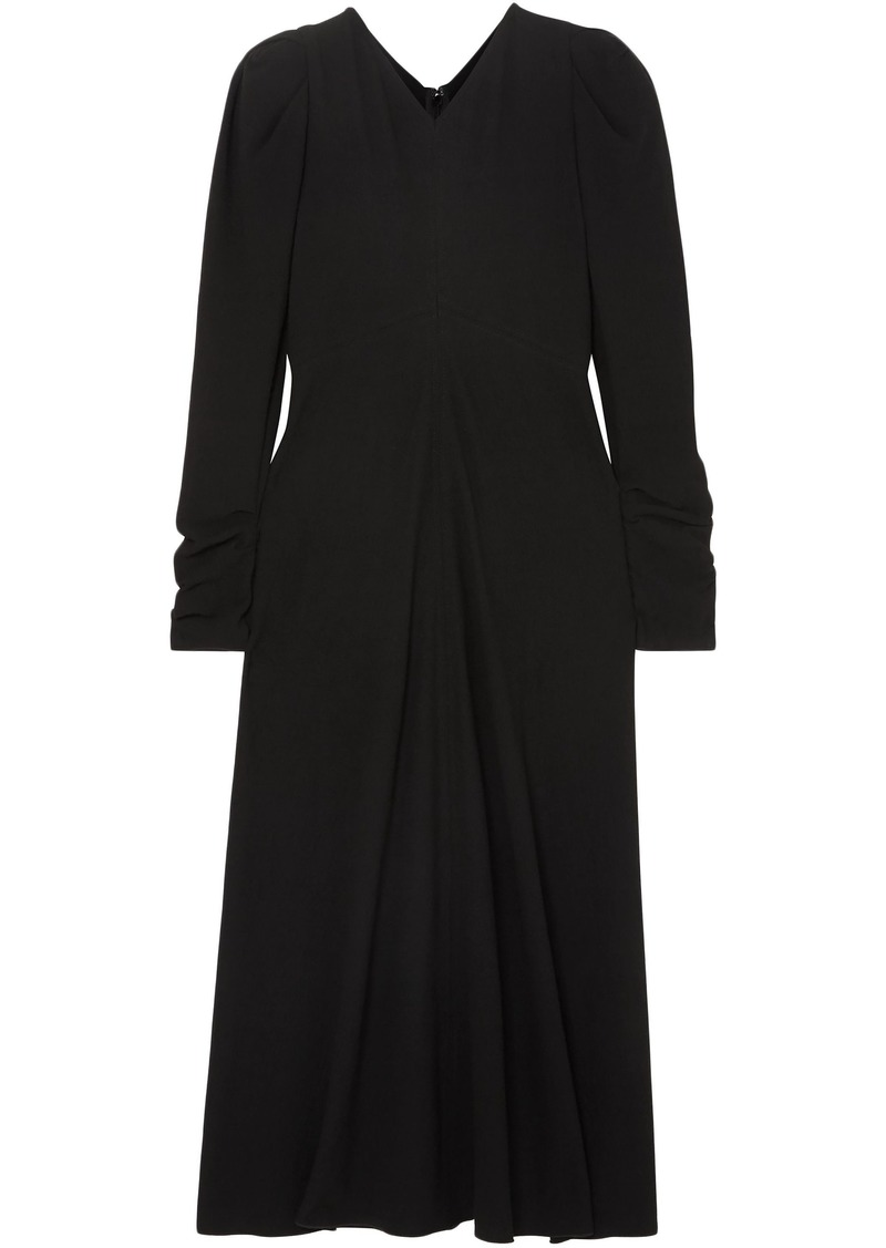 Isabel Marant Woman Abi Gathered Crepe Midi Dress Black