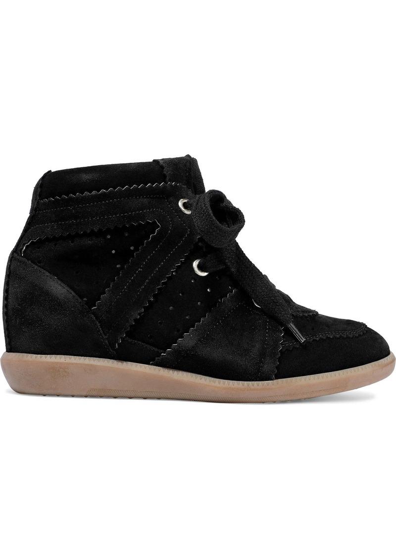 Isabel Marant Woman Bobby Suede Wedge Sneakers Black