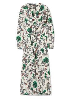 Isabel Marant Woman Calypso Floral-print Crepe De Chine Wrap Dress Ivory