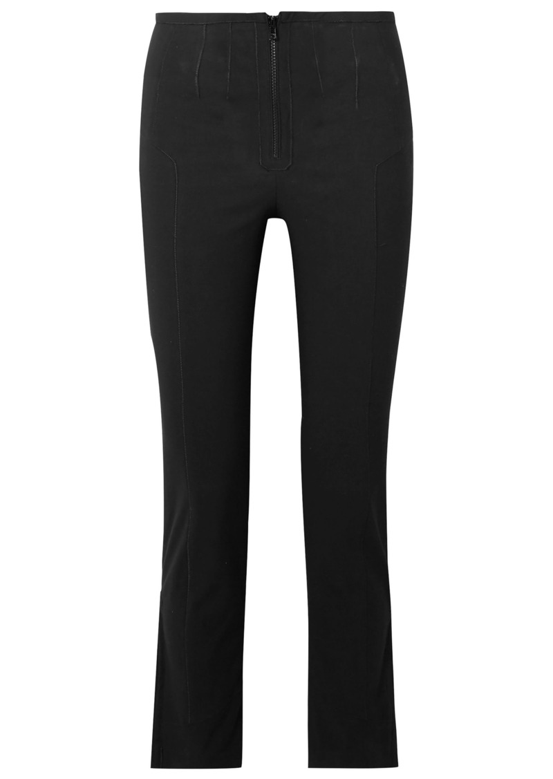 Isabel Marant Woman Cotton-blend Jersey Slim-leg Pants Black