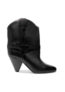 Isabel Marant Woman Deane Leather Ankle Boots Black