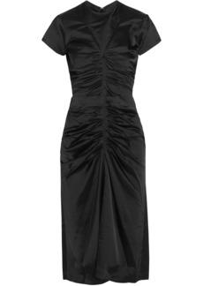 Isabel Marant Woman Else Ruched Satin Dress Black