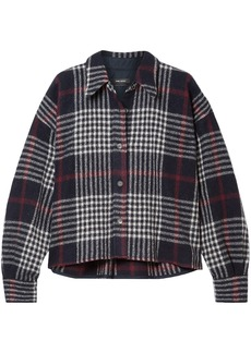 Isabel Marant Woman Hanao Checked Wool Shirt Midnight Blue