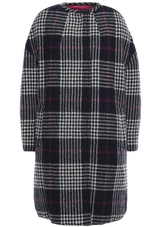 Isabel Marant Woman Harrison Reversible Prince Of Wales Checked Wool And Quilted Shell Coat Midnight Blue