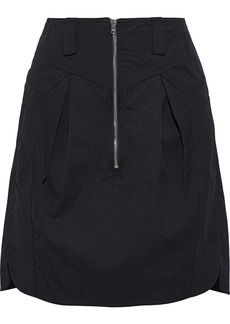 Isabel Marant Woman Hera Pleated Cotton Mini Skirt Black