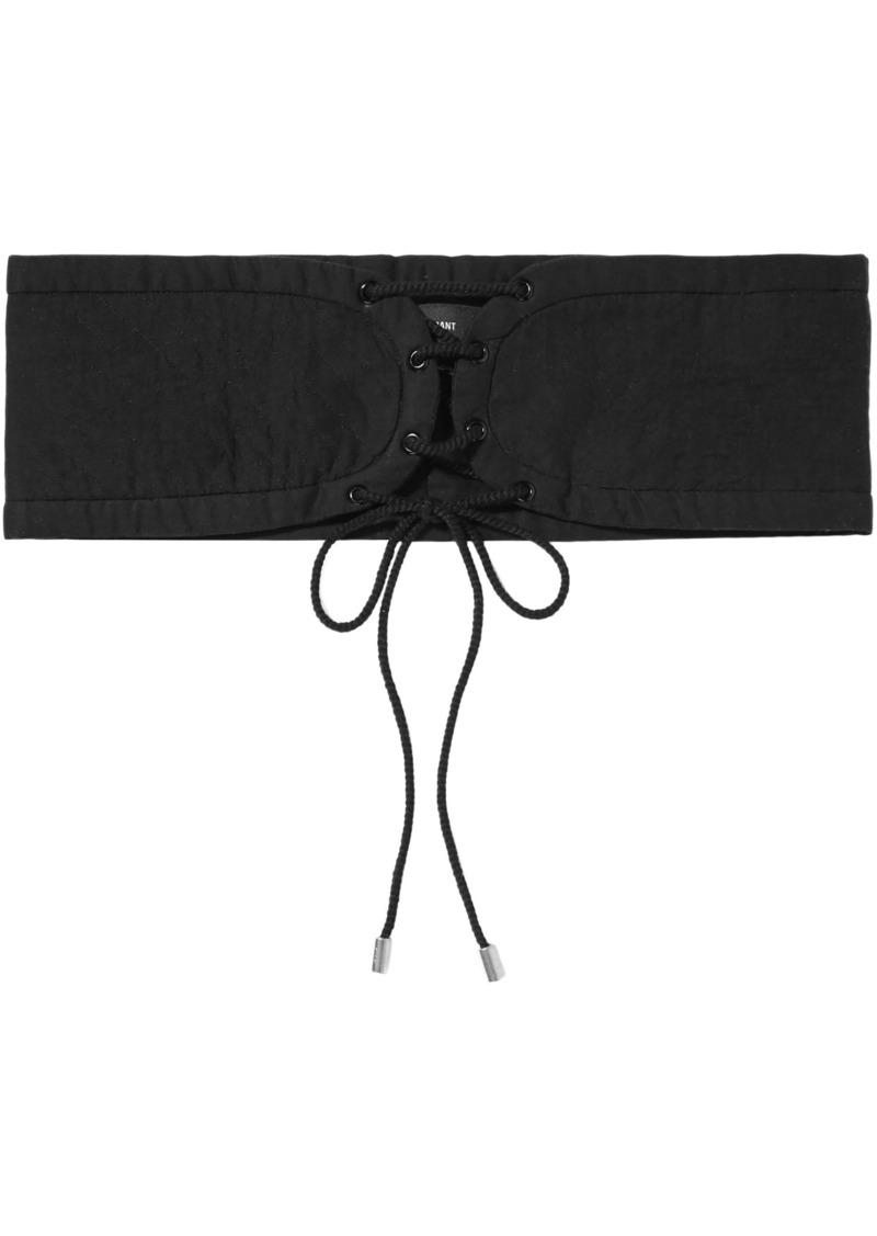 Isabel Marant Woman Lace-up Cotton Belt Black