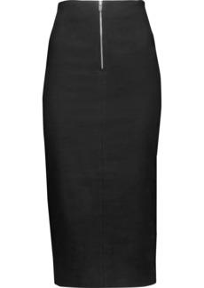 Isabel Marant Woman Lecia Linen And Cotton-blend Skirt Black