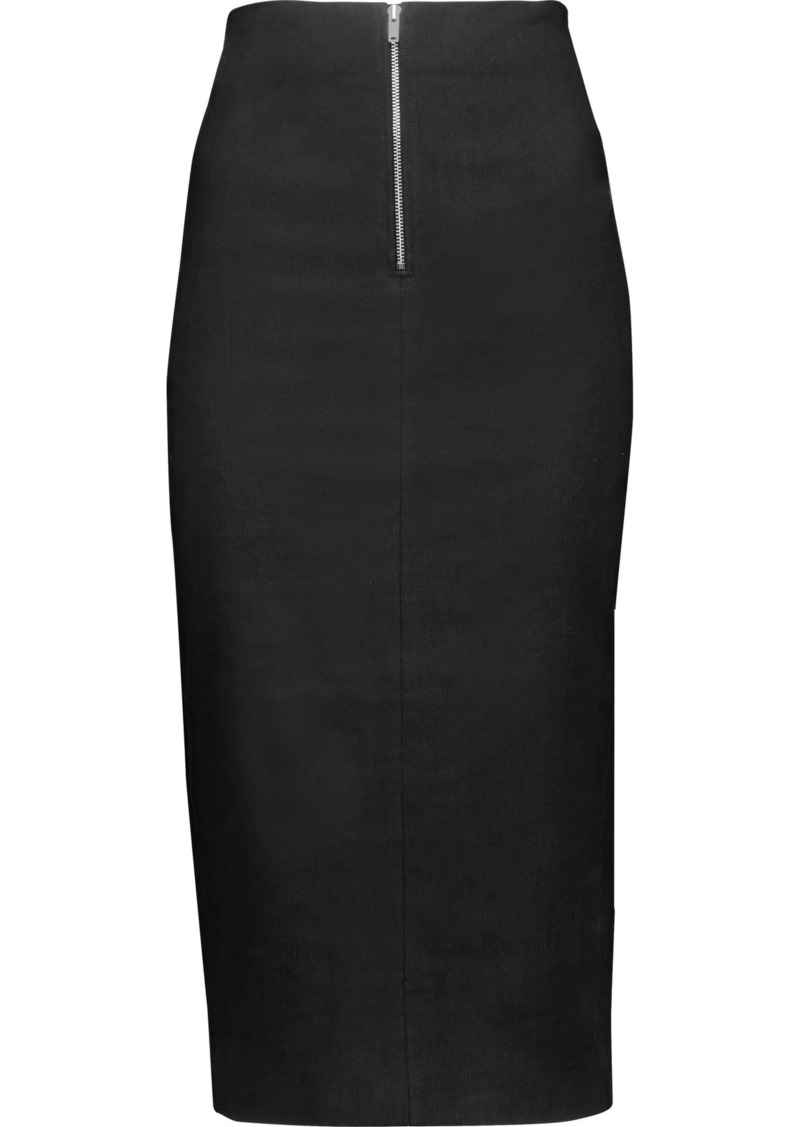 Isabel Marant Woman Lecia Linen And Cotton-blend Skirt Black