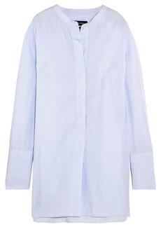 Isabel Marant Woman Louis Striped Cotton-poplin Tunic Sky Blue